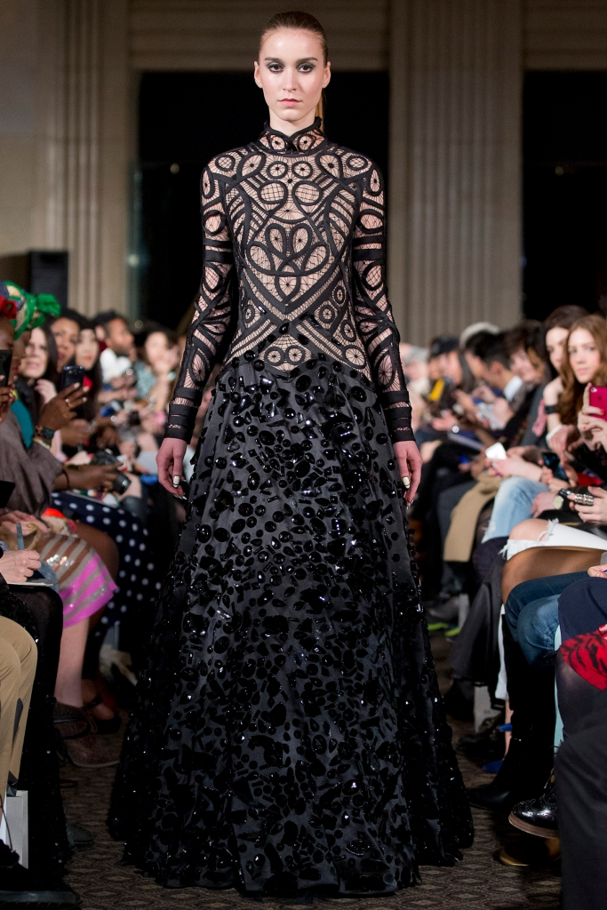Lucian Matis' BAILEYs Irish Cream dress